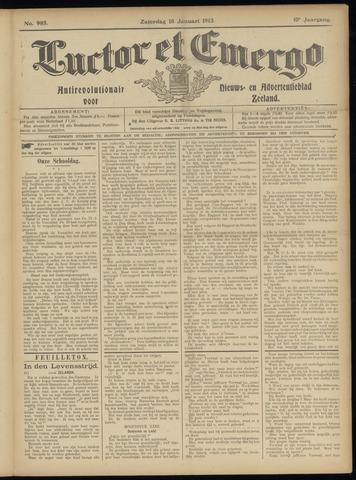 Luctor et Emergo. Antirevolutionair nieuws- en advertentieblad voor Zeeland / Zeeuwsch-Vlaanderen. Orgaan ter verspreiding van de christelijke beginselen in Zeeuwsch-Vlaanderen 1913-01-18