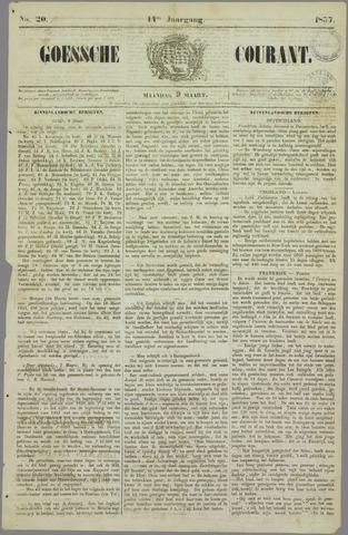 Goessche Courant 1857-03-09