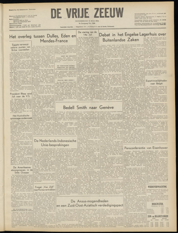 de Vrije Zeeuw 1954-07-15