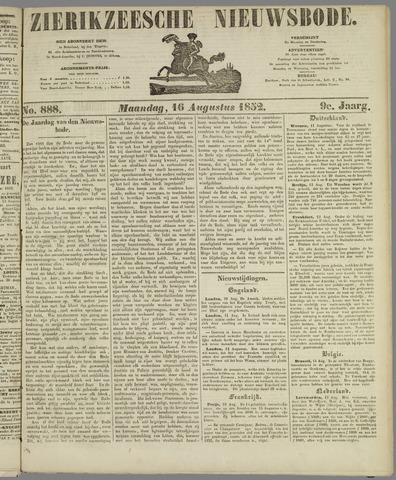 Zierikzeesche Nieuwsbode 1852-08-16
