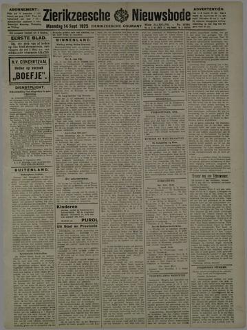 Zierikzeesche Nieuwsbode 1925-09-14