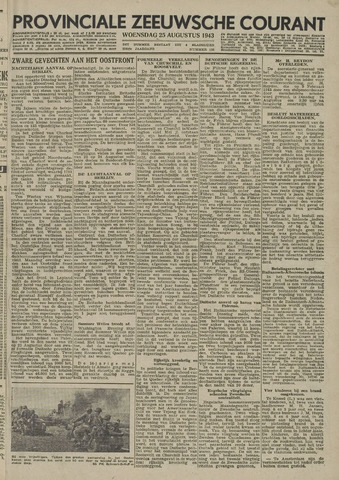 Provinciale Zeeuwse Courant 1943-08-25