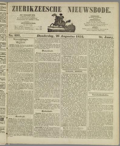 Zierikzeesche Nieuwsbode 1852-08-26