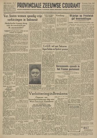 Provinciale Zeeuwse Courant 1949-01-12