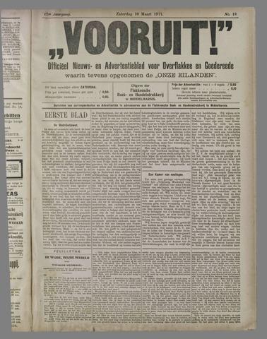 """""""Vooruit!""""Officieel Nieuws- en Advertentieblad voor Overflakkee en Goedereede 1917-03-10"""