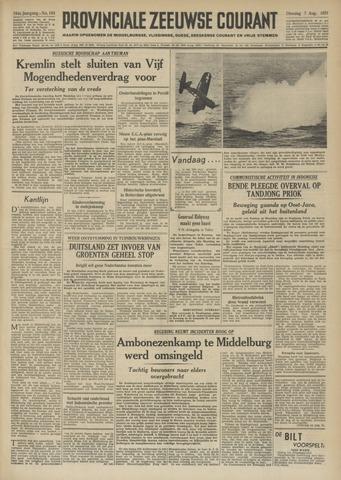 Provinciale Zeeuwse Courant 1951-08-07
