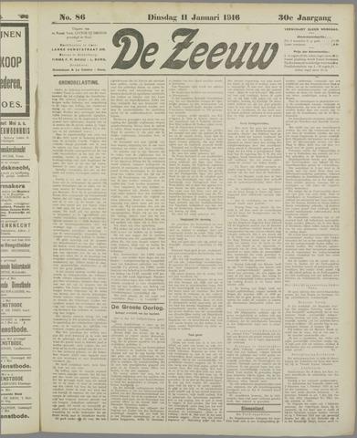 De Zeeuw. Christelijk-historisch nieuwsblad voor Zeeland 1916-01-11