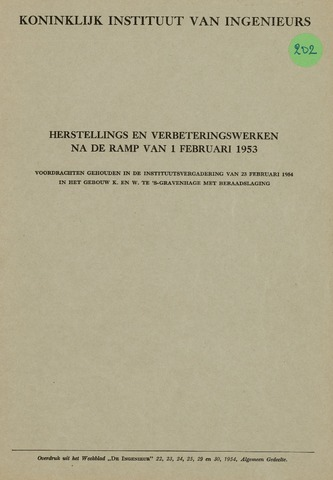 Watersnood documentatie 1953 - brochures 1954-01-09