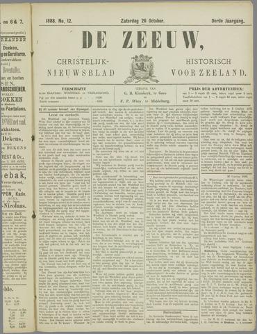 De Zeeuw. Christelijk-historisch nieuwsblad voor Zeeland 1888-10-26