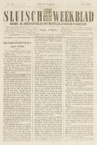 Sluisch Weekblad. Nieuws- en advertentieblad voor Westelijk Zeeuwsch-Vlaanderen 1874-10-02