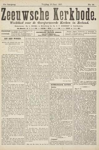 Zeeuwsche kerkbode, weekblad gewijd aan de belangen der gereformeerde kerken/ Zeeuwsch kerkblad 1917-06-15