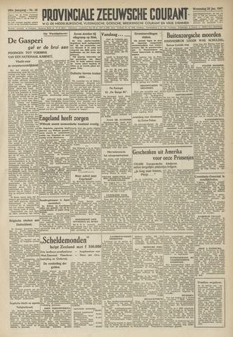Provinciale Zeeuwse Courant 1947-01-22