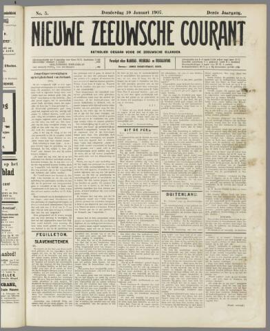 Nieuwe Zeeuwsche Courant 1907-01-10