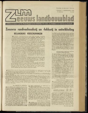 Zeeuwsch landbouwblad ... ZLM land- en tuinbouwblad 1962-09-14