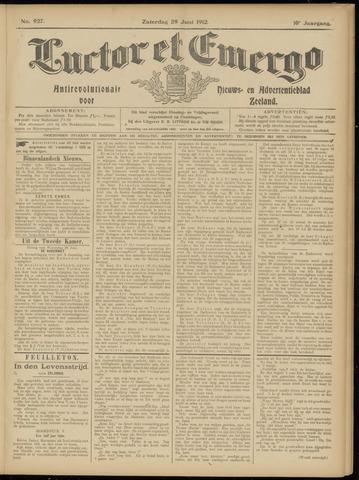 Luctor et Emergo. Antirevolutionair nieuws- en advertentieblad voor Zeeland / Zeeuwsch-Vlaanderen. Orgaan ter verspreiding van de christelijke beginselen in Zeeuwsch-Vlaanderen 1912-06-29