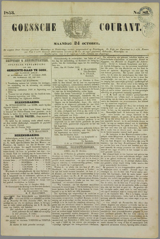 Goessche Courant 1853-10-24