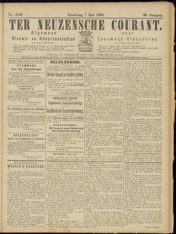 Ter Neuzensche Courant. Algemeen Nieuws- en Advertentieblad voor Zeeuwsch-Vlaanderen / Neuzensche Courant ... (idem) / (Algemeen) nieuws en advertentieblad voor Zeeuwsch-Vlaanderen 1906-06-07
