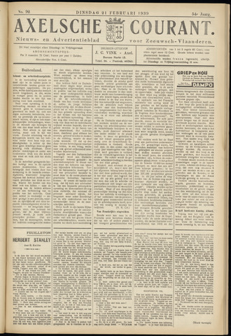 Axelsche Courant 1939-02-21