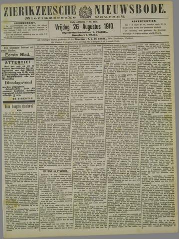 Zierikzeesche Nieuwsbode 1910-08-26