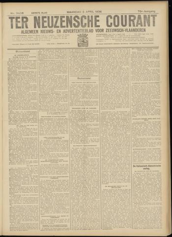 Ter Neuzensche Courant. Algemeen Nieuws- en Advertentieblad voor Zeeuwsch-Vlaanderen / Neuzensche Courant ... (idem) / (Algemeen) nieuws en advertentieblad voor Zeeuwsch-Vlaanderen 1936-04-06