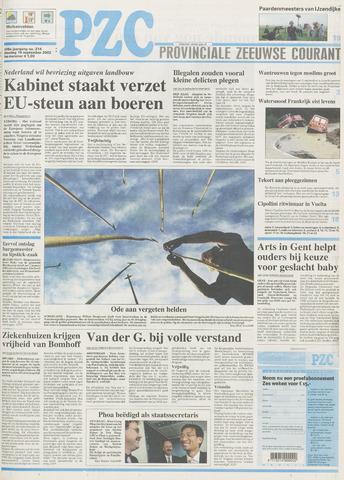 Provinciale Zeeuwse Courant 2002-09-10