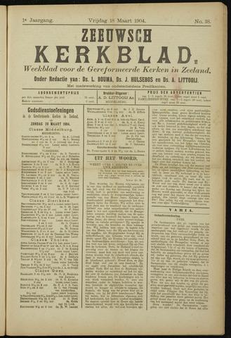 Zeeuwsche kerkbode, weekblad gewijd aan de belangen der gereformeerde kerken/ Zeeuwsch kerkblad 1904-03-18