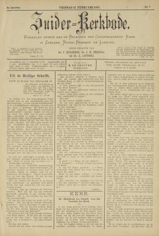 Zuider Kerkbode, Weekblad gewijd aan de belangen der gereformeerde kerken in Zeeland, Noord-Brabant en Limburg. 1897-02-12
