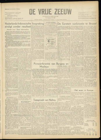de Vrije Zeeuw 1956-02-13