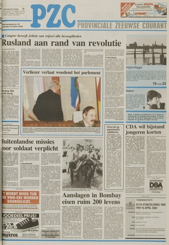 Provinciale Zeeuwse Courant 1993-03-13