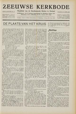 Zeeuwsche kerkbode, weekblad gewijd aan de belangen der gereformeerde kerken/ Zeeuwsch kerkblad 1951-04-27