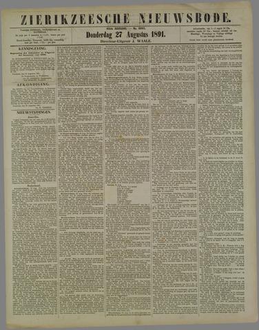 Zierikzeesche Nieuwsbode 1891-08-27