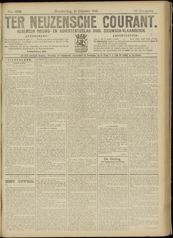 Ter Neuzensche Courant. Algemeen Nieuws- en Advertentieblad voor Zeeuwsch-Vlaanderen / Neuzensche Courant ... (idem) / (Algemeen) nieuws en advertentieblad voor Zeeuwsch-Vlaanderen 1915-10-21