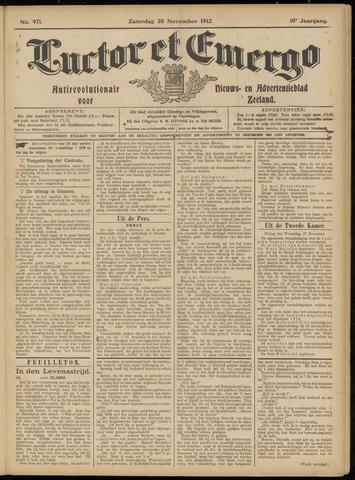 Luctor et Emergo. Antirevolutionair nieuws- en advertentieblad voor Zeeland / Zeeuwsch-Vlaanderen. Orgaan ter verspreiding van de christelijke beginselen in Zeeuwsch-Vlaanderen 1912-11-30