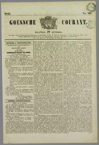 Goessche Courant 1851-10-27
