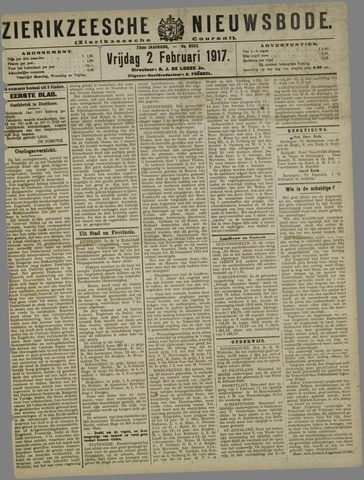 Zierikzeesche Nieuwsbode 1917-02-02