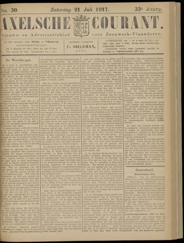 Axelsche Courant 1917-07-21