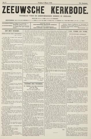 Zeeuwsche kerkbode, weekblad gewijd aan de belangen der gereformeerde kerken/ Zeeuwsch kerkblad 1938-03-04