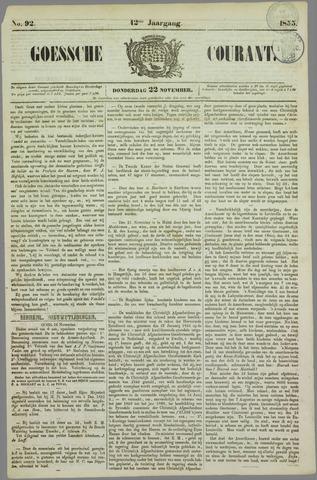 Goessche Courant 1855-11-22