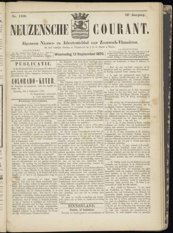 Ter Neuzensche Courant. Algemeen Nieuws- en Advertentieblad voor Zeeuwsch-Vlaanderen / Neuzensche Courant ... (idem) / (Algemeen) nieuws en advertentieblad voor Zeeuwsch-Vlaanderen 1876-09-13