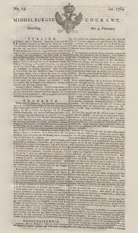Middelburgsche Courant 1764-02-04