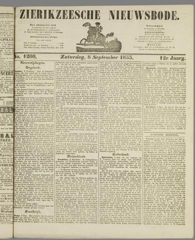 Zierikzeesche Nieuwsbode 1855-09-08