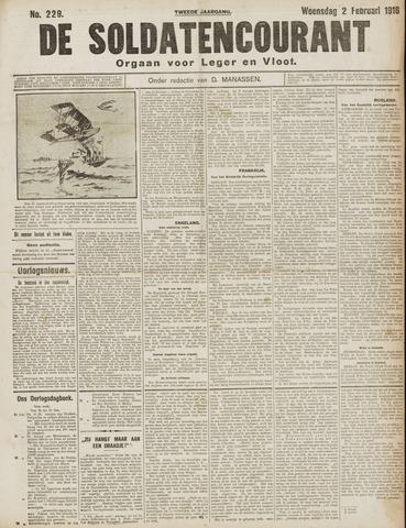 De Soldatencourant. Orgaan voor Leger en Vloot 1916-02-02