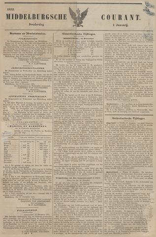 Middelburgsche Courant 1852-01-01