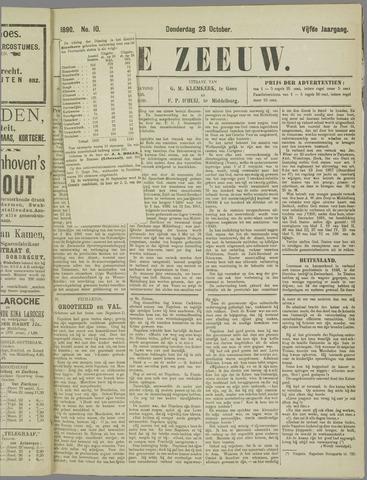 De Zeeuw. Christelijk-historisch nieuwsblad voor Zeeland 1890-10-23