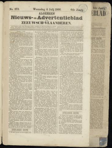 Ter Neuzensche Courant. Algemeen Nieuws- en Advertentieblad voor Zeeuwsch-Vlaanderen / Neuzensche Courant ... (idem) / (Algemeen) nieuws en advertentieblad voor Zeeuwsch-Vlaanderen 1866-07-04