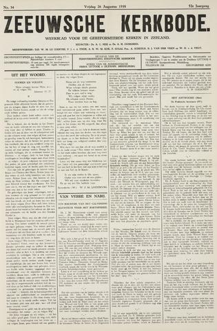 Zeeuwsche kerkbode, weekblad gewijd aan de belangen der gereformeerde kerken/ Zeeuwsch kerkblad 1938-08-26