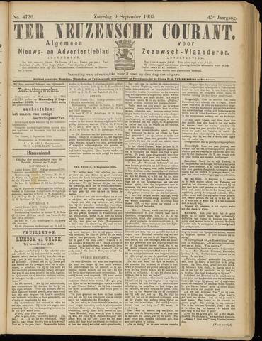 Ter Neuzensche Courant. Algemeen Nieuws- en Advertentieblad voor Zeeuwsch-Vlaanderen / Neuzensche Courant ... (idem) / (Algemeen) nieuws en advertentieblad voor Zeeuwsch-Vlaanderen 1905-09-09