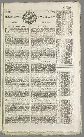 Zierikzeesche Courant 1814-06-03