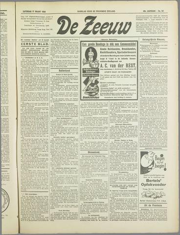 De Zeeuw. Christelijk-historisch nieuwsblad voor Zeeland 1934-03-17