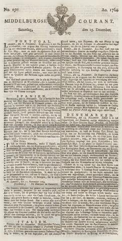 Middelburgsche Courant 1764-12-15